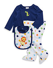Three-Piece Polka Dot Animal Set