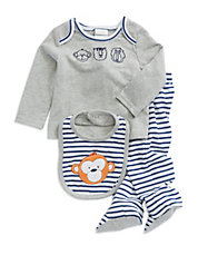 Three-Piece Striped Animal Set