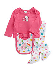 Three-Piece Polka Dot Kitty Set