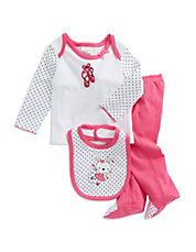 Three-Piece Ballet Bunny Set