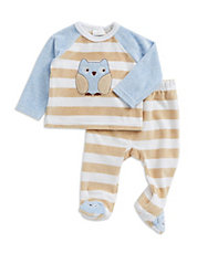 Two-Piece Fleece Owl Top And Pants Set