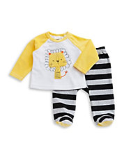 Two-Piece Fleece Lion Top And Pants Set