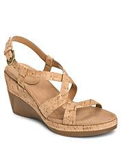Hedge Maple Leather Sandal Wedges