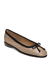 Fashionista Leather and Fabric Flats