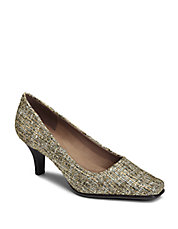 Envy Lizard-Embossed Pumps