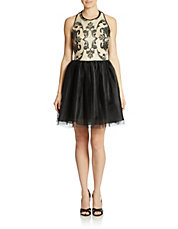 Lace Bodice A Line Dress