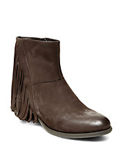 Cassidy Leather Fringe Booties