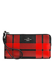 Mount Printed Plaid Crossgrain Leather Wallet