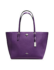 Crossgrain Leather Turnlock Tote