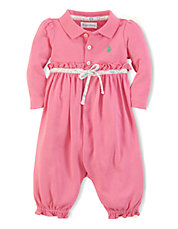 Baby Girls Polo Coverall