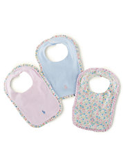 Baby Girls Three-Piece Bib Set
