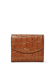 Croc-Embossed Leather Wallet