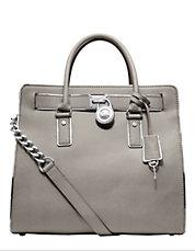 Hamilton Specchio Leather Large North/South Tote Bag