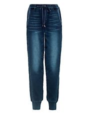 Drawstring Tapered-Leg Jeans