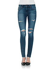Icon Distressed Skinny-Leg Jeans