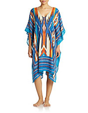 Multi-Color Tribal Print Cover-Up