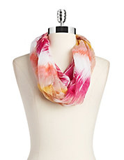 Tie-Dyed Feather Scarf