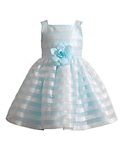 Girls 2-6x Madison Boucle Organza Striped Dress
