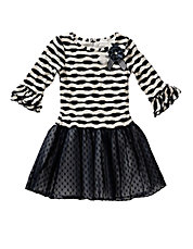 Girls 2-6x Striped Knit Dress