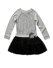 Girls 2-6x Sequined Knit Dress