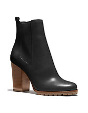 Odelle Leather Gore Booties