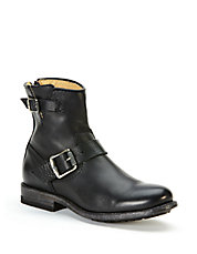Tyler Engineer Short Leather Boots