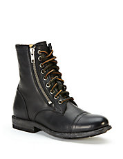 Tyler Double Zip Leather Boots