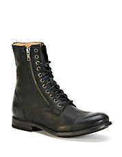 Tyler Double-Zip Leather Boots