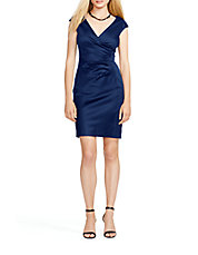 Surplice Sheath Dress