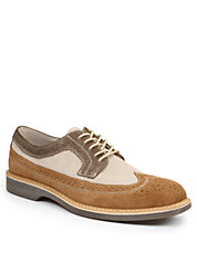 Pearson Suede and Leather Wingtip Oxfords