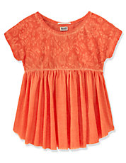 Girls 7-16 Lace Babydoll Top
