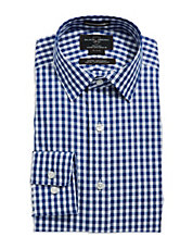 Fitted Gingham Dress Shirt
