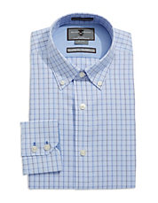 Fitted Plaid Dress Shirt