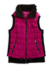 Fleece Collar Puckered Vest