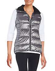 Fleece Collar Puffer Vest