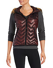 Faux Fur-Trimmed Quilted Vest