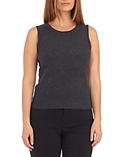 Cashmere Scoop Neck Tank Sweater