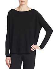 Curved Hem Cashmere Sweater