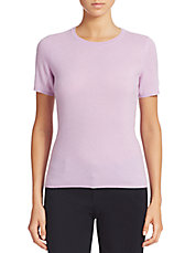 Short Sleeve Cashmere Crewneck Sweater