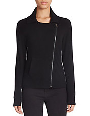 Cashmere Moto Jacket Sweater