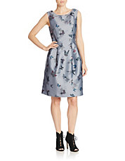 Butterfly Beauty Fit-and-Flare Dress