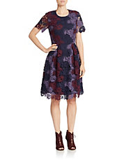 Chemical Lace Fit-and-Flare Dress