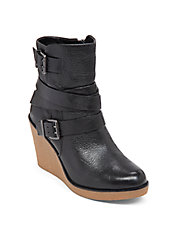 Finland Leather Wedge Boots