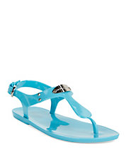 MK Plate Jelly Sandals