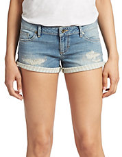 Distressed Roll Up Shorts