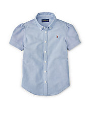 Girls 2-6x Short Sleeve Oxford Shirt