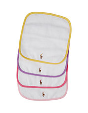 Baby Girls 4-Pack Terry Cloth Washcloths