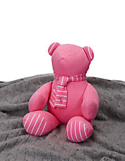 Baby Girls Striped Teddy Bear