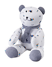 Baby Boys Striped-Detail Teddy Bear