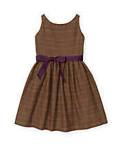 Girls 2-6x Tweed Fit-and-Flare Dress